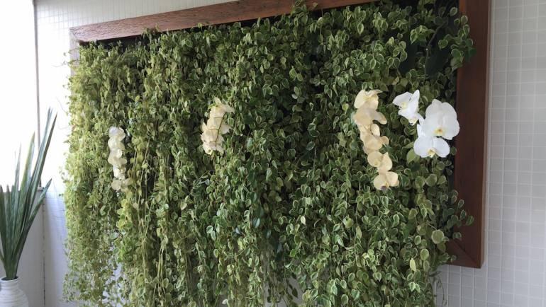 Quadro verde na varanda